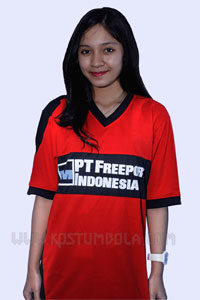 Baju Bola Team PT Freeport Indonesia